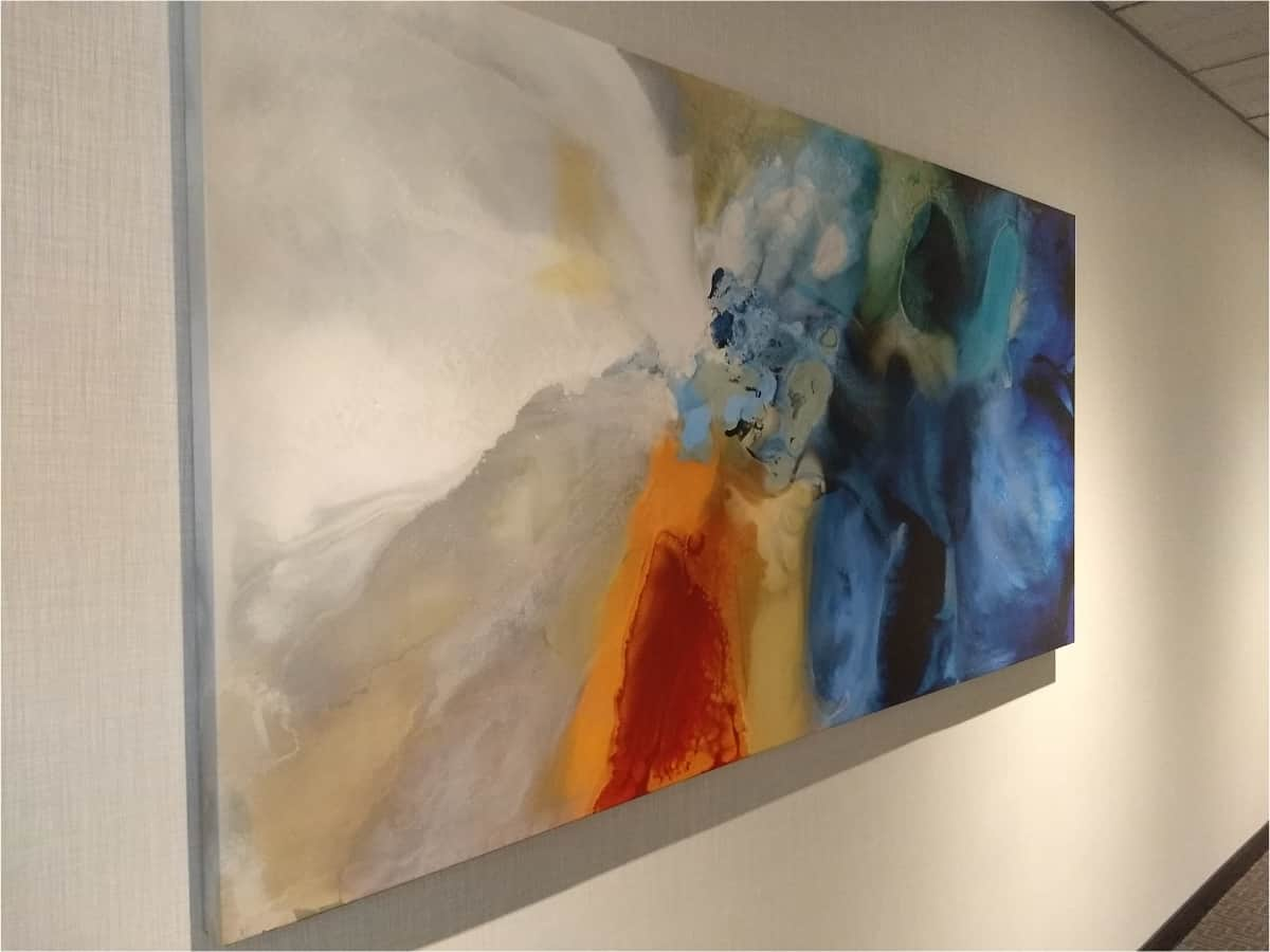 The paintings in the Directions in Design Inc office <br> photographs: internet