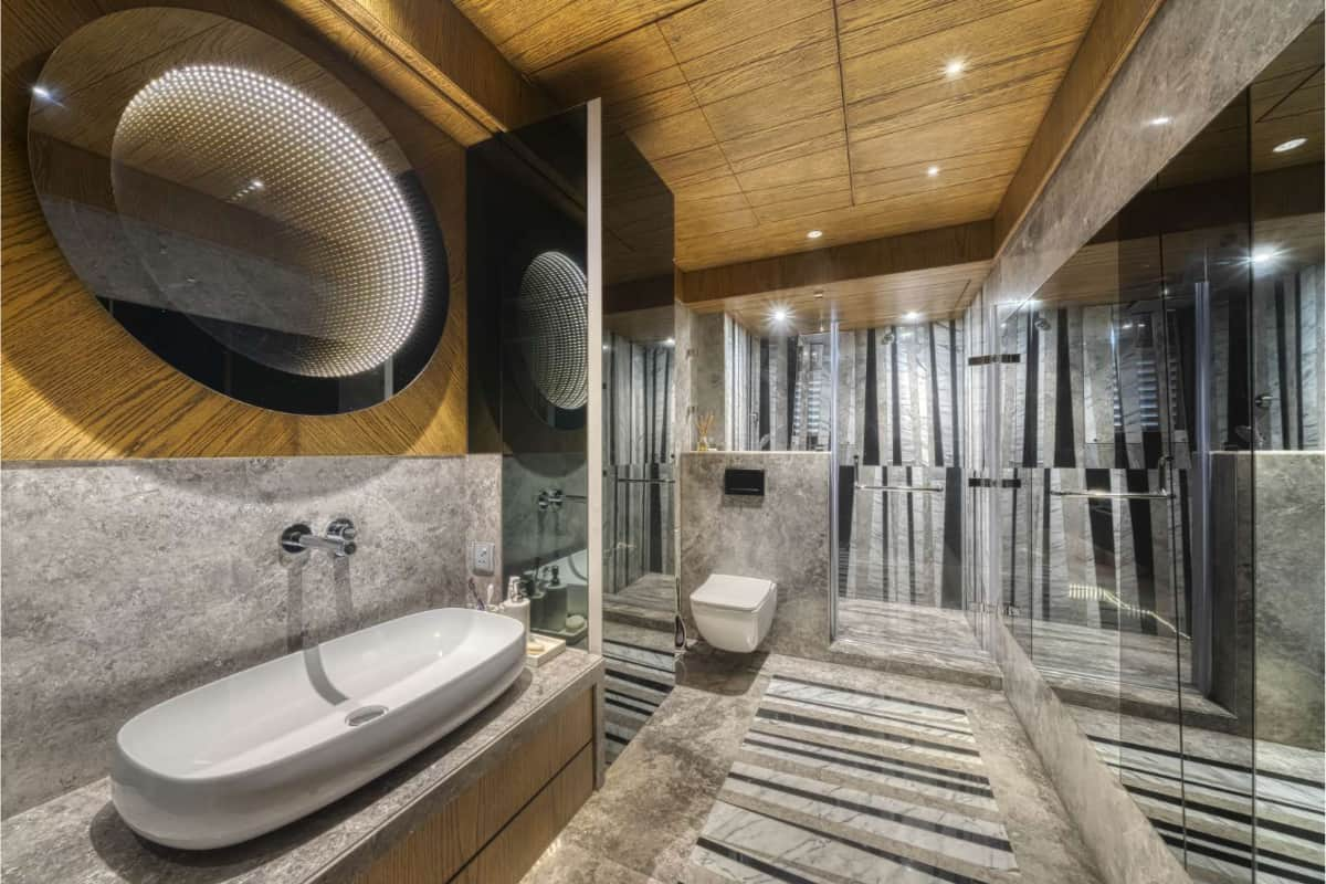 The luxurious bath space <br> photographs: Pooja Bihani, Spaces and Design