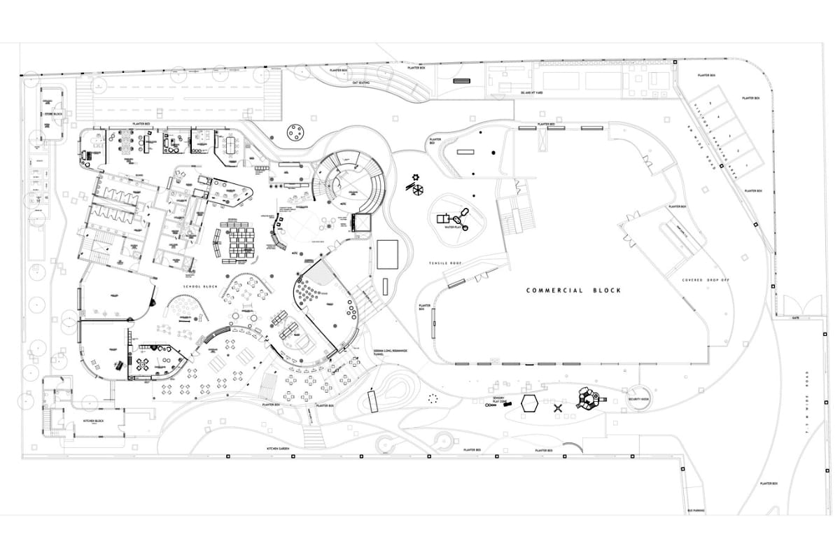 Floor plan, Kai Early Learning, Whitefield, Bengaluru; Education Design Architects <br> photographs: Andre Fanthome